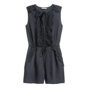 H&M - sleeveless romper with lace details
